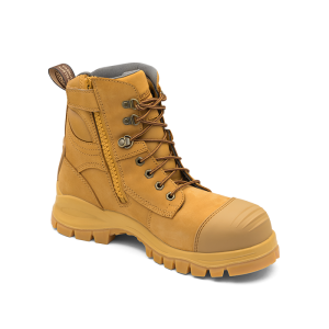 Blundstone 992 Lace with Zip & Scuff  Safety Boots Wheat