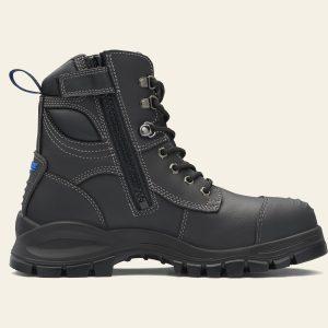 BLUNDSTONE 997 UNISEX ZIP UP SERIES SAFETY BOOTS - BLACK