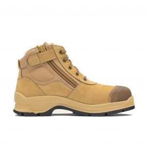 BLUNDSTONE 318 UNISEX ZIP UP SERIES SAFETY BOOTS - WHEAT