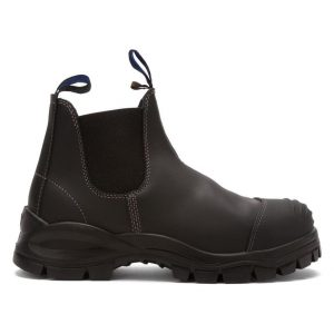 Blundstone 990 Slip On with Scuff Safety Boots BlackBlundstone 990 Slip On with Scuff Safety Boots Black-0