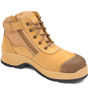 Blundstone 318 Lace up with Zip & Scuff Cap Safety Boot Wheat