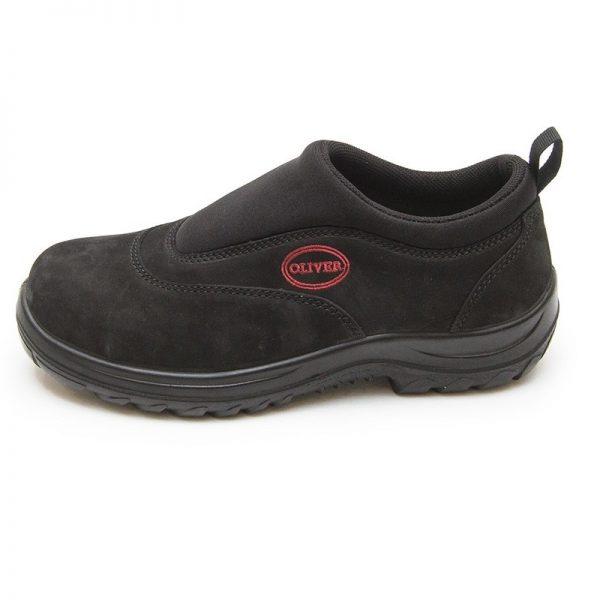 Oliver Slip On Safety Shoe Black 34-610 (MenBoots) side