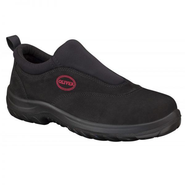 Oliver Slip On Safety Shoe Black 34-610 (MenBoots)