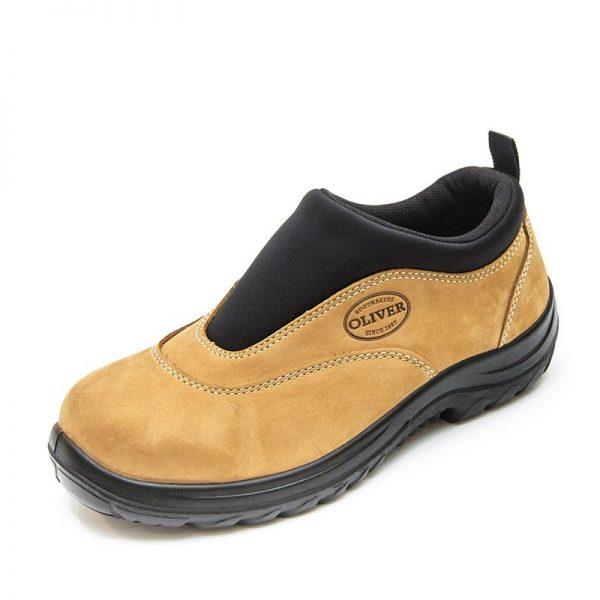 Oliver Slip On Safety Shoe Wheat 34-615 (MenBoots) 2