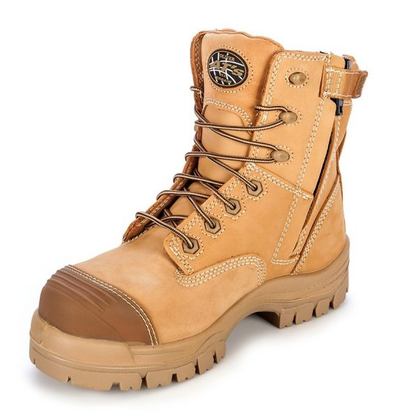 Oliver 150mm Zip Sided Safety Boot Wheat 45-632Z (MenBoots) 2