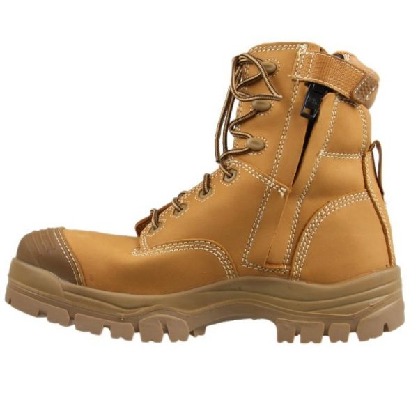 Oliver 150mm Zip Sided Safety Boot Wheat 45-632Z (MenBoots) right