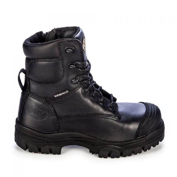 Oliver 150mm Zip Sided Safety Boot Black 45-645Z (MenBoots) left