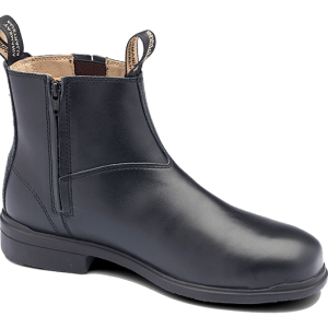 Blundstone 783 Black Premium Leather Zip Slip On Safety Boots