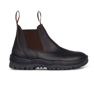 Mongrel 916030 Oil Kip Slip On Non Safety Boot Brown