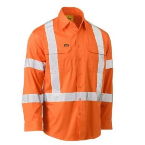 Bisley BS6166XT X Back Cool Lightweight NSW Orange Rail Shirt