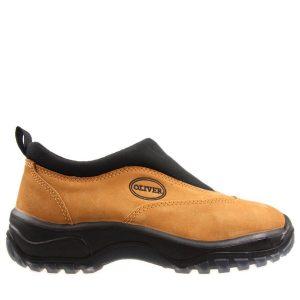 Oliver Slip On Safety Shoe Wheat 34-615