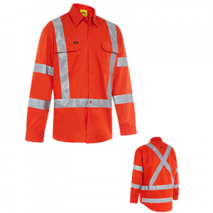 Bisley BS6166XT X Back Cool Lightweight NSW Orange Rail ShirtBisley X Back Cool Lightweight NSW Orange Rail Shirt BS6166XT (Workwear Clothing)