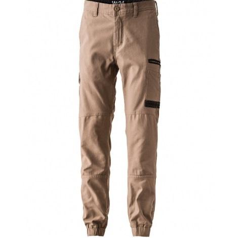 FXD Stretch Cuffed Work Pants WP-4 (Workwear Clothing) khaki