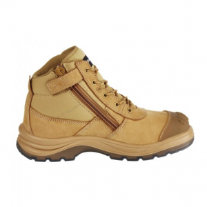 KingGee K27100 Tradie Safety Boot Zip Wheat