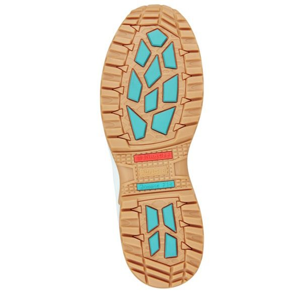 Kingee Ladies Tradie Zip Teal Safety Cheap Work Boots K27370 C