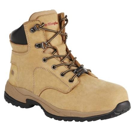 Kingee Ladies Tradie Zip Wheat Safety Cheap Work Boots K27370 D
