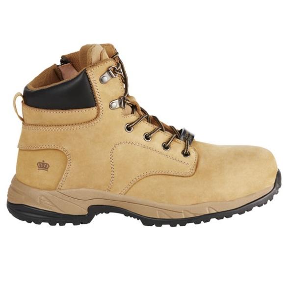Kingee Ladies Tradie Zip Wheat Safety Cheap Work Boots K27370 E
