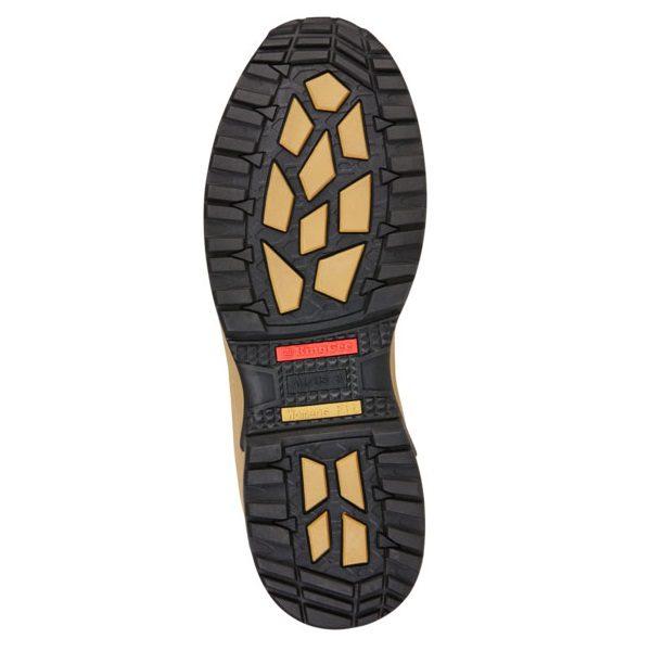Kingee Ladies Tradie Zip Wheat Safety Cheap Work Boots K27370 G