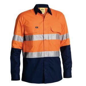 Bisley BS6415T 3M Taped Hi-Vis X Airflow™ RipStop L/Sleeve Shirt