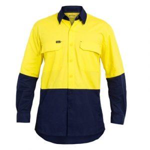 Bisley BS6415 Hi-Vis X Airflow™ RipStop L/Sleeve Shirt