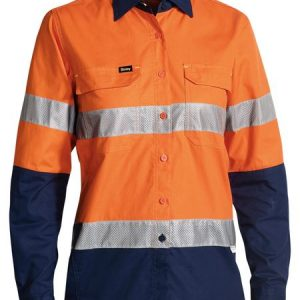 Bisley BL6415T WOMENS 3M Taped Hi-Vis X AirFlow™ RipStop Shirt