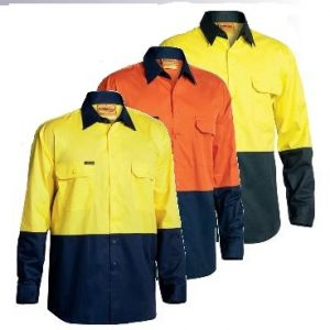 Bisley BS6895 2-Tone Hi-Vis Cool Lightweight Drill L/Sleeve Shirtcheap work boots bisley BS6895_GROUP