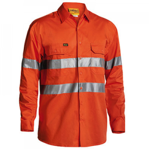 Bisley BS6897 Cool Lightweigt L/Sleeve Hi-Vis Mens Shirt With 3M Tapecheap work boots bisley BS6897