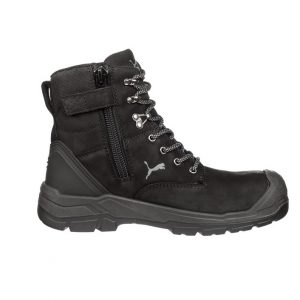 Puma 630737 Conquest Black Zip Side Waterproof Safety Boot