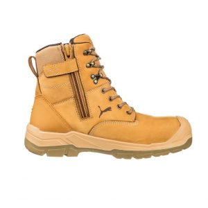 Puma 630727 Conquest Wheat Zip Side Waterproof Safety Boot