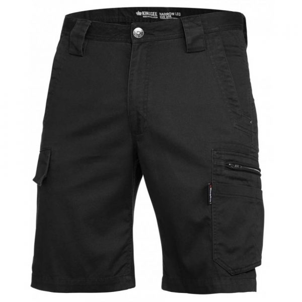 cheap work boots kinggee tradies slim fit shorts K17340_BLACK
