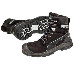 Puma 630737 Conquest Black Zip Side Waterproof Safety Bootcheap work boots puma 630737-Conquest Black 1