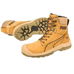 Puma 630727 Conquest Wheat Zip Side Waterproof Safety Bootcheap work boots puma 630727-Conquest Wheat 1