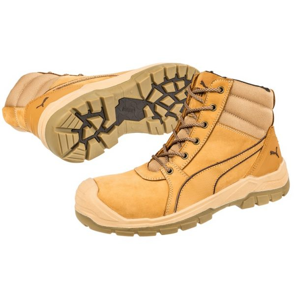 Puma 630787 Tornado Wheat Zip Side Safety Boot