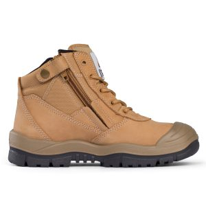Mongrel 461050 Zip Side Safety Boot With Scuff Wheat