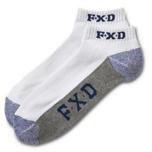 FXD SK-4 Short Sock White 5 PackCheap Work Boots FXD SK-4 Short Socks 1