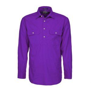 Pilbara RM200CF Original Mens Closed Front L/Sleeve Shirt