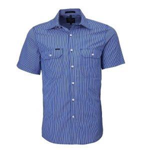 Pilbara RMPC010S Mens S/Sleeve Double Pockets Shirt