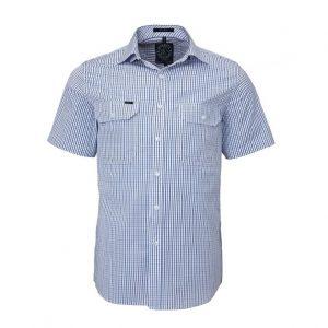 Pilbara RMPC011S Mens Front Flap Dual Pocket, Classic Fit, S/Sleeve Shirt