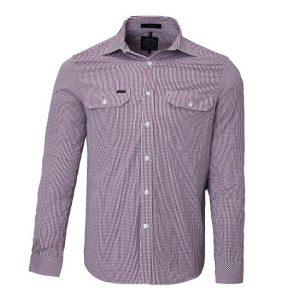 Pilbara RMPC008 Mens L/Sleeve Double Pockets Shirt