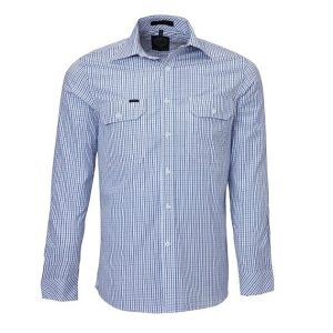 Pilbara RMPC011 Mens Front Flap Dual Pocket, Classic Fit, L/Sleeve Shirt