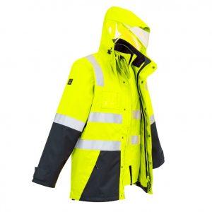 Syzmik ZJ532 Mens Hi Vis 4 in 1 Waterproof Jacket