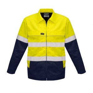 Syzmik ZJ590 Mens Hi Vis Taped Cotton Drill Jacket