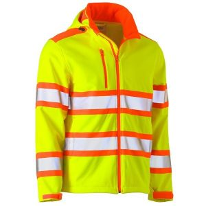 Bisley BJ6222T Taped Double Hi-Vis Softshell Jacket