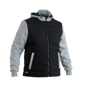 Bisley BJ6944Flex & Move Contrast Puffer Fleece Hooded Jacket