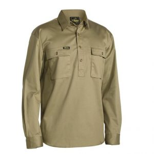 Bisley BSC6433 Closed Front Cotton Drill L/S Shirt