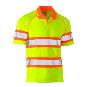 Bisley BK1223T Taped Double Hi-Vis Mesh S/Sleeve Polo