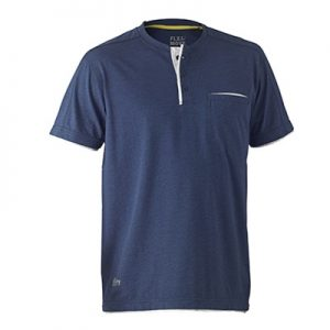 Bisley BK1932 Flex & Move Cotton Henley Tee
