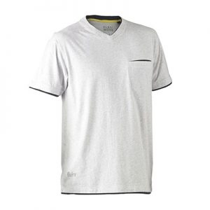 Bisley BK1933 Flex & Move Cotton V-Neck Tee