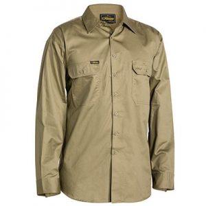 Bisley BS6893 Cool Light Weight Drill L/Sleeve Shirt
