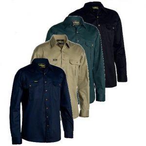 Bisley BS6433 Original Cotton Drill L/Sleeve Shirt